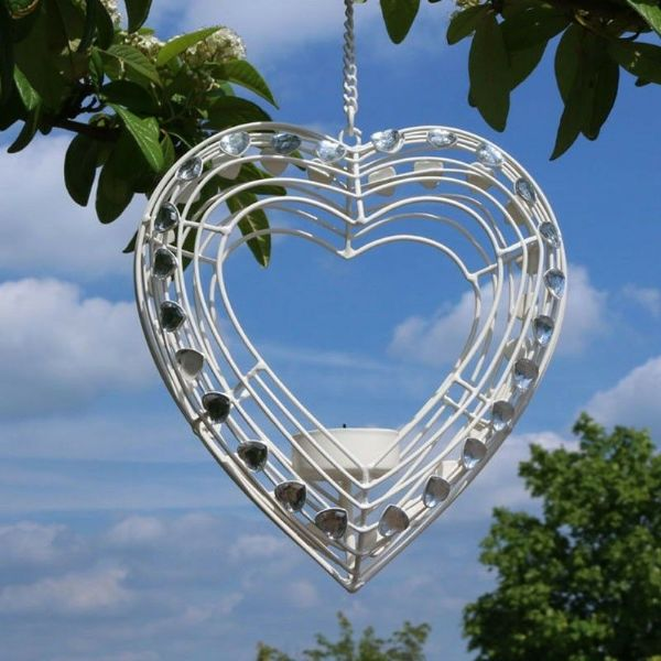 Hanging Tuscany Heart Tealight Holder